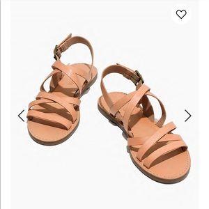 Madewell multi-strap boardwalk sandal